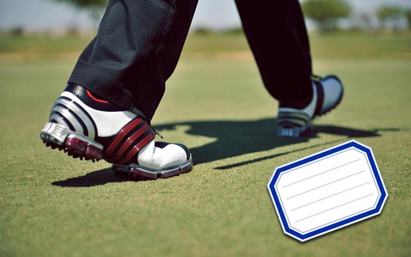 l'étiquette au golf