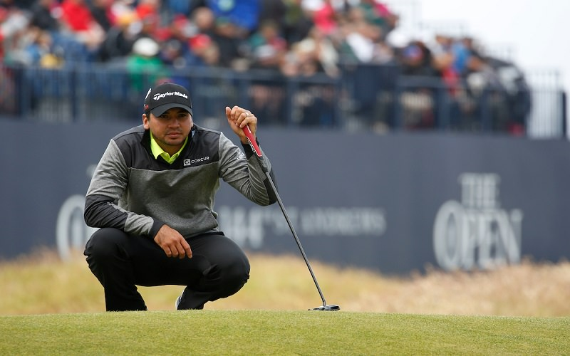 Jason Day avant un putt sur The Open 2016 - Crédit photo : Mark Newcombe