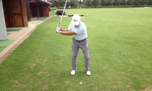 backswing et gratte au golf
