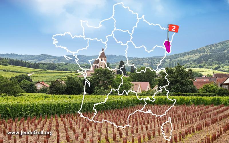 La route des golfs par les vignobles. N°2 Alsace, Haut-Rhin