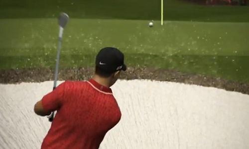 Sortie de bunker pour Tiger Woods