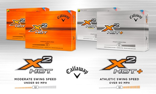 Balles de golf Callaway X2 Hot & X2 Hot+
