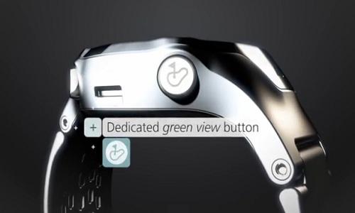 Bouton green view sur la montre GPS S4