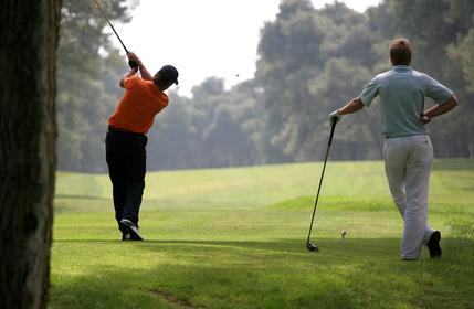 Allez sur le parcours de golf pour la première fois
