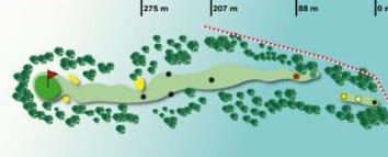 trou numéro 12 golf des volcans