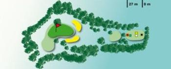 trou numéro 17 golf des volcans
