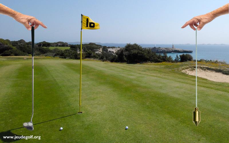 golf : les aides pour lire les pentes au putting