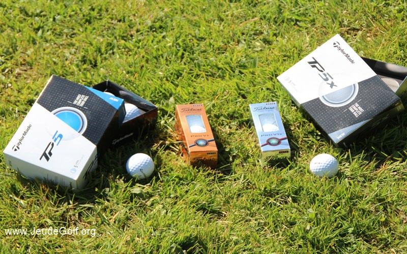 Test des balles premium TaylorMade TP5 et Titleist Pro V1