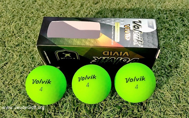 Test balles de golf Volvik Vivid