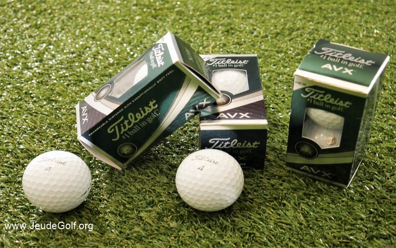 Test des balles de golf Titleist AVX