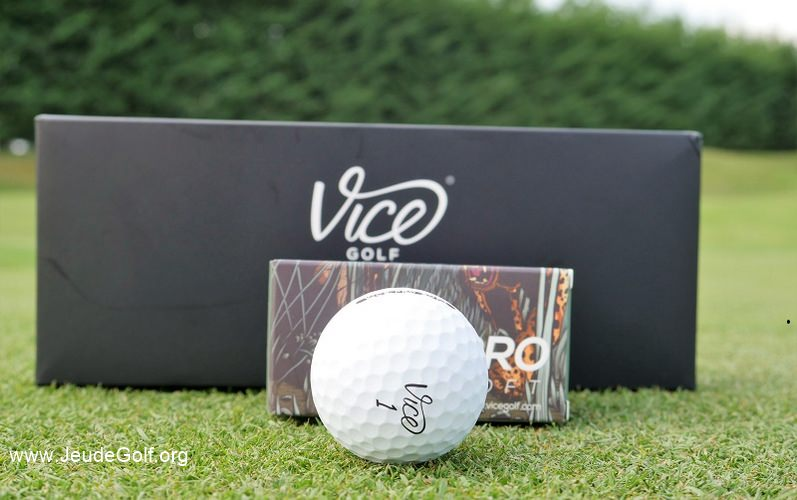 Test balles de golf VICE Pro Soft