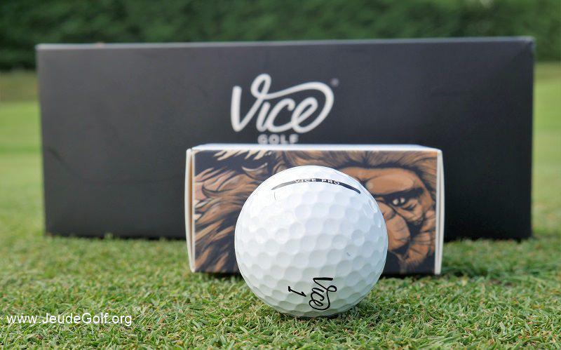 Test balles de golf VICE Pro