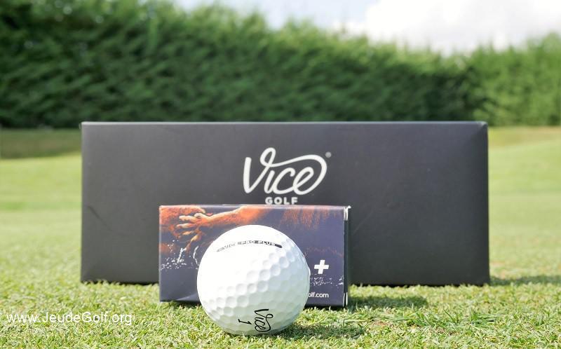 Test balles de golf VICE Pro Plus