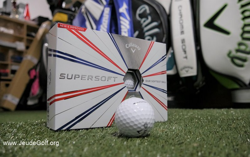 Test balles de golf Callaway Supersoft 2019
