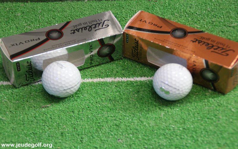 Test balles Titleist Pro V1 et Pro V1 X neuves contre légèrement usées