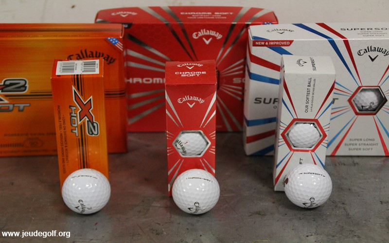 Test des balles Callaway Chrome soft et Supersoft