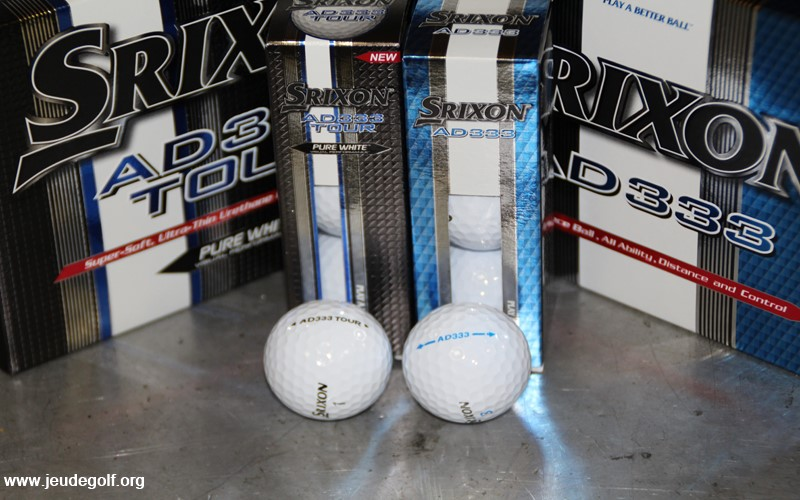 Test comparatif balles Srixon AD333 vs AD333 Tour