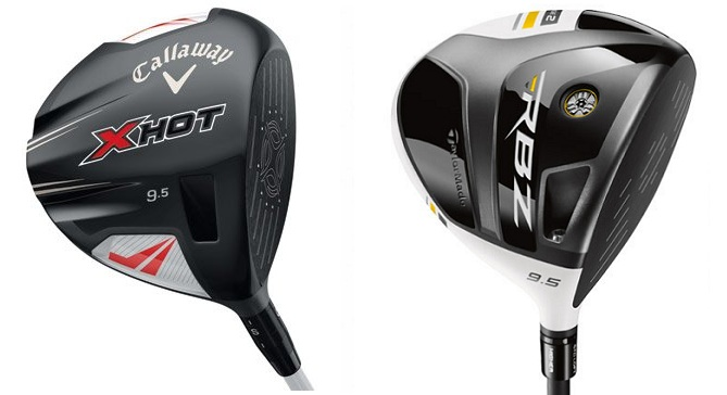 Test driver Callaway X HOT et driver TaylorMade RBZ Stage 2