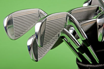 Test de fers pour le golf
