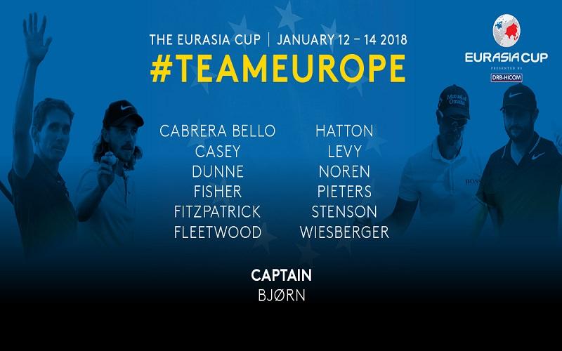 La liste des 12 golfeurs retenus par Thomas Bjorn pour l'Eurasia cup