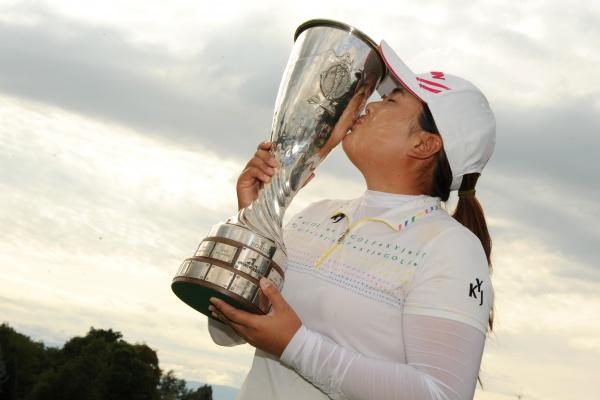Inbee Park embrasse un 2ème gros succès à Evian 2012 après l'US Women's open 2008