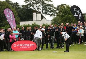 concours de putting au cours du Masterclass Callaway lors de The Open Championship 2012