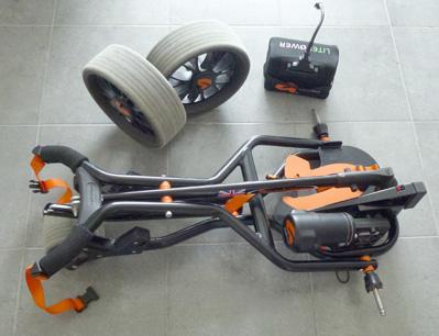 Démontage d'un chariot de golf électrique