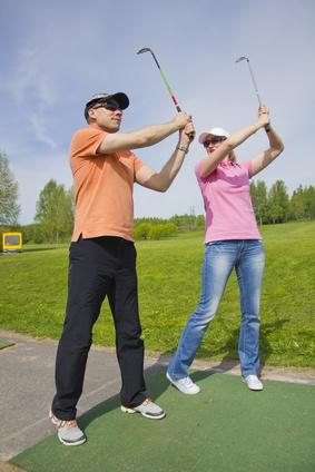 Débuter le golf avec un ami