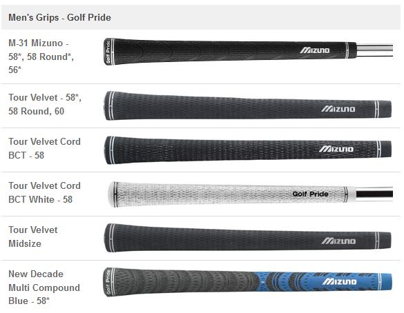 Nouveaux grips pour les clubs de golf MP-64