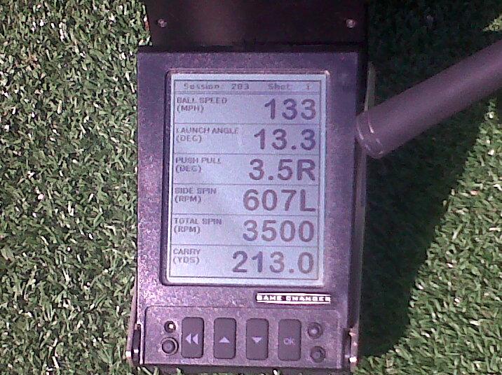 CG2 pour mesurer votre swing au practice