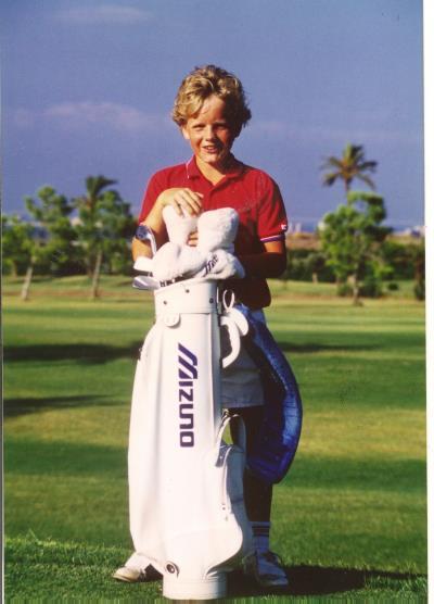 Le jeune Luke Donald, déjà fan des clubs sur Mizuno