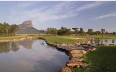 Faire du golf et un safari pendant des vacances en Afrique du Sud