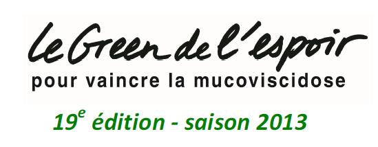 Calendrier Green de l'Espoir 2013