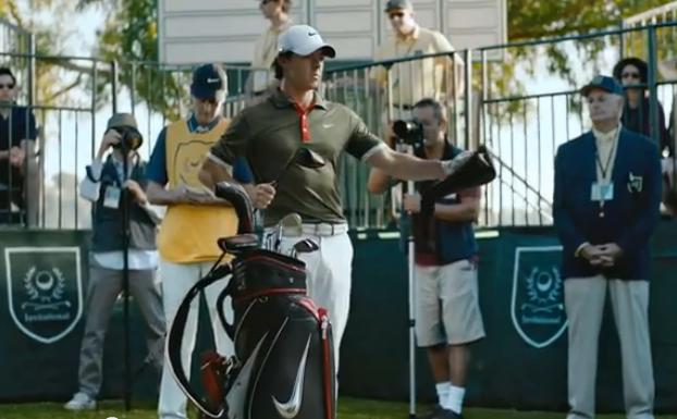 McIlroy mis en scène pour les besoins d'un spot publicitaire pour Nike