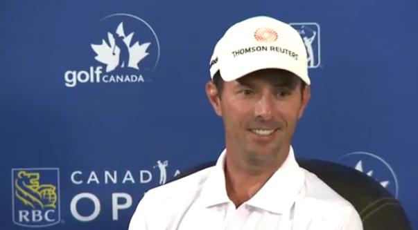 Mike Weir en conférence de presse avant le tournoi. Confiant ?