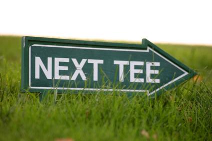 Concentration avant le départ d'une partie de golf