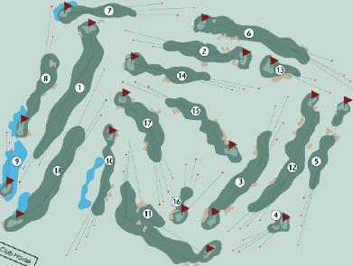 Plan du parcours du Golf de Rebetz