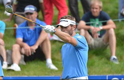 Raphael Jacquelin, 1er français au 1er tour de l'Open de France golf 2012