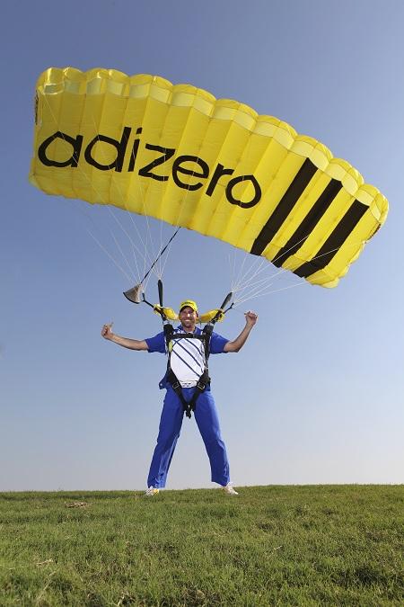 Sergio Garcia, parachutiste du tour européen