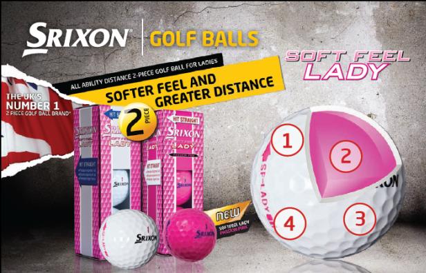 Nouvelle couleur rose pour SRIXON et la Soft Feel Lady