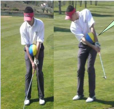 La connexion bras-buste est favorisée par l'utilisation du swing-ball